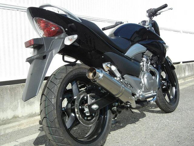 【WRS】【バイク用】【ダブルアールズ】スリップオンマフラー GSR250(JBK-GJ55D)2012年〜 ステンレス/チタン BT3210JM【送料無料】