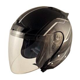 【TNK工業】【SPEED PIT】【バイク用】【スピードピット】VJ-5シールドジェットヘルメット ZACK ブラック/シルバーメッシュ【VJ-5】