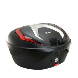 大容量リアボックス通勤、通学からツーリングまで 在庫あり/K-MAX/バイク用/リアボックス/K26/限定品赤レンズ/40L/トップケース