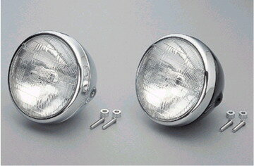 【DAYTONA】【デイトナ】【バイク用】ビンテージヘッドライト ブラック SR400/500【95636】【旧品番:26616】