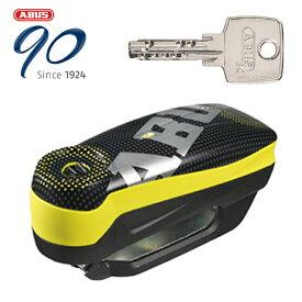 在庫あり 限定特価 ABUS はとやのおすすめ防犯 Alarm Brake Disc Locks Detecto 7000 RS1 アラームディスクロック【Detecto 7000 RS1 PIXEL YELLOW】 4003318487330