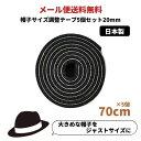 帽子サイズ調整テープ[20mm]【5個セット】日本製 調節テープ インナーバンド 大きいサイズ 小さいサイズ レディース …