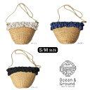クーポン発行中!!Ocean&Ground Girl's カゴフリルポシェット[キッズ・ジュニア]ショルダーバッグ かごバッグ 子供用 …