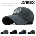 AVIREX アヴィレックス アビレックス キャップ ローキャップ 帽子 メンズ メルトン カーブバイザー 人気 トレンド