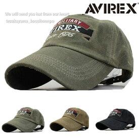 AVIREX アヴィレックス アビレックス キャップ ローキャップ 帽子 メンズ パッチ ビンテージウオッシュ 人気 トレンド