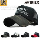 AVIREX アヴィレックス アビレックス キャップ 大きいサイズ ビッグサイズ 帽子 メッシュキャップ メンズ NUMBERRING …