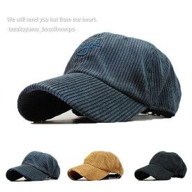 キャップ 帽子 ローキャップ メンズ レディース nyc コーデュロイ 無地 秋冬 トレンド 人気 おしゃれ