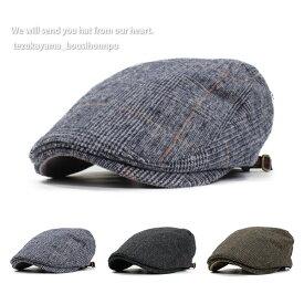 ハンチング 帽子 メンズ レディース ウインター チェック 秋冬 トレンド 人気 おしゃれ