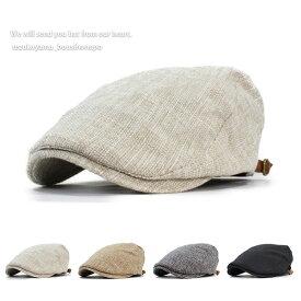 ハンチング メンズ 帽子 FAKE リネン 春夏 トレンド 父の日 贈り物 プレゼント