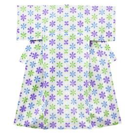 在庫処分 浴衣 レディース フリーサイズ 白地 紫 青 黄緑 有松鳴海絞 板締め絞り 雪花絞り風 花柄 夏祭り 花火大会 和柄 清楚 シンプル シック エレガント 可愛い 大人可愛い 大人 オシャレ Mサイズ No.3-0028