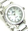 【 表示よりさらに2000円off クーポンあり 】 レディース 腕時計 セラミック EYKI 天然ホワイトシェル文字盤 ホワイトSS WHITE 送料無料