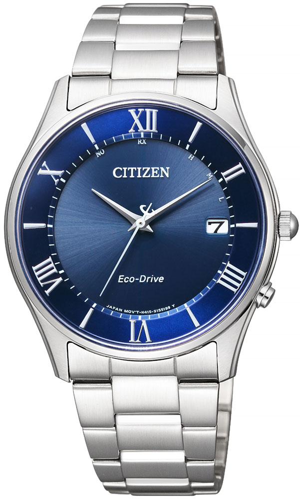 ソーラー電波時計 シチズン エコドライブ 薄型 スリム 腕時計 メンズ AS1060-54L CITIZEN