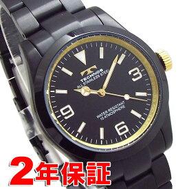 TECHNOS JET BLACK 漆黒 テクノス メンズ 腕時計 10気圧防水 バンド調節工具付属 TSM208BG 送料無料 [あす楽対応]
