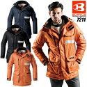 BURTLEバートル7410大型フード付防寒コート防風軽量ユニセックス防寒着作業服防寒服作業着
