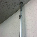 【送料無料】伸縮支柱ポール 最大4m 伸縮スプリング式 紅白幕取付け支柱間仕切りポール