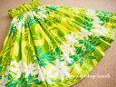 【送料無料】パウスカート 【604】 ティアレ柄 黄色 イエロー /ハワイ ハワイアンファブリック4ヤード フラ …