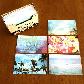 カード 紙 メッセージカード ミニ 名刺サイズ 120枚 セット ウエディングカード おしゃれ ハワイアン