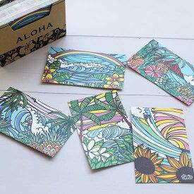カード 紙 メッセージカード ミニ 名刺サイズ 120枚 セット TAMO タモ おしゃれ ハワイアン ウエディングカード