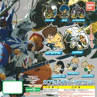 万代 Digimon 冒险三... 封装橡胶吉祥物 ☆ 所有八个设置 ★
