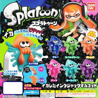 万代 Splatoon splatoon 墨鱼有墨水杰克吉祥物 ☆ 所有六集的 ★