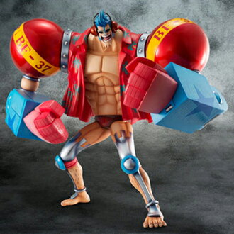 "Megahouse excellent model ONE PIECE-one piece - P.O.P portrait of pirates ""SA-MAXIMUM"" armored Frankie PVC"