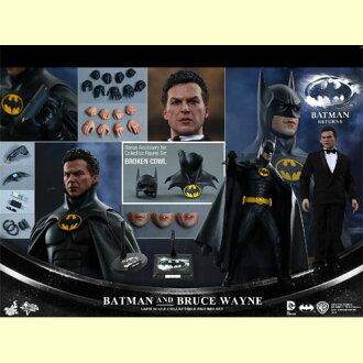 HOTTOYS hot toys movie masterpiece Batman returns Batman and Bruce Wayne (2 pieces) 1 / 6 scale fully poseable figure