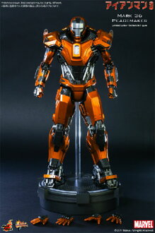 3 HOTTOYS hot toys movie masterpiece iron man iron man-mark 36 (peacemaker) 1 / 6 scale fully poseable figure