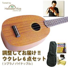ウクレレ 初心者 セット 入門セット パイナップル デビュー応援 送料無料 代引無料