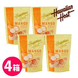 【ハワイアンホースト公式店】ドライマンゴーホワイトチョコレート(12P)4袋セット|ハワイ お土産