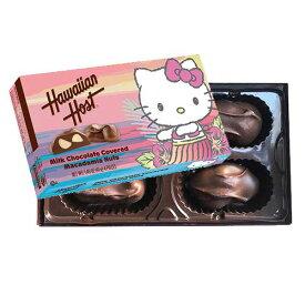 【ハワイアンホースト公式店】マカデミアナッツチョコレートハローキティ フラ(4粒)