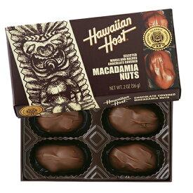 【ハワイアンホースト公式店】マカデミアナッツチョコレートTIKI(4粒)|ハワイ お土産