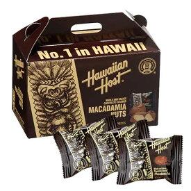 【ハワイアンホースト公式店】マカデミアナッツチョコレートTIKI BOX 4粒|ハワイ お土産