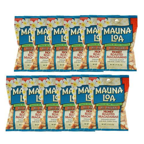 【ハワイアンホースト公式店】マウナロア ハニーマカデミアナッツS 12袋セット|ハワイ お土産