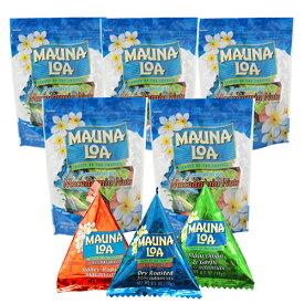 【ハワイアンホースト公式店】マウナロア マカデミアナッツミニアソートバッグ5袋セット【セット割引】|ハワイ お土産