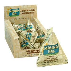 【ハワイアンホースト公式店】マウナロア マカデミアナッツチョコレートミニパック(24袋)|ハワイ お土産