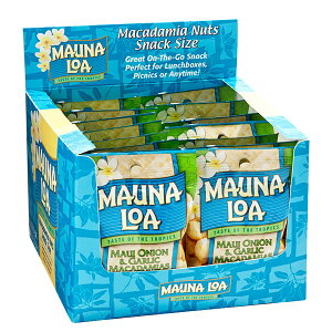 15%OFF【ハワイアンホースト公式店】マウナロア オニオンガーリックマカデミアナッツS 18袋セット|ハワイ お土産