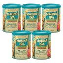 【ハワイアンホースト公式店】マウナロア 無塩マカデミアナッツ5缶セット【セット割引】 ハワイ お土産