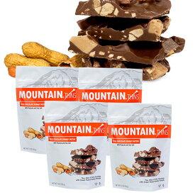 ハワイアンホースト公式店|マウンテンシン ミルクチョコ ピーナッツバター(150g)4袋セット|アメリカ お土産