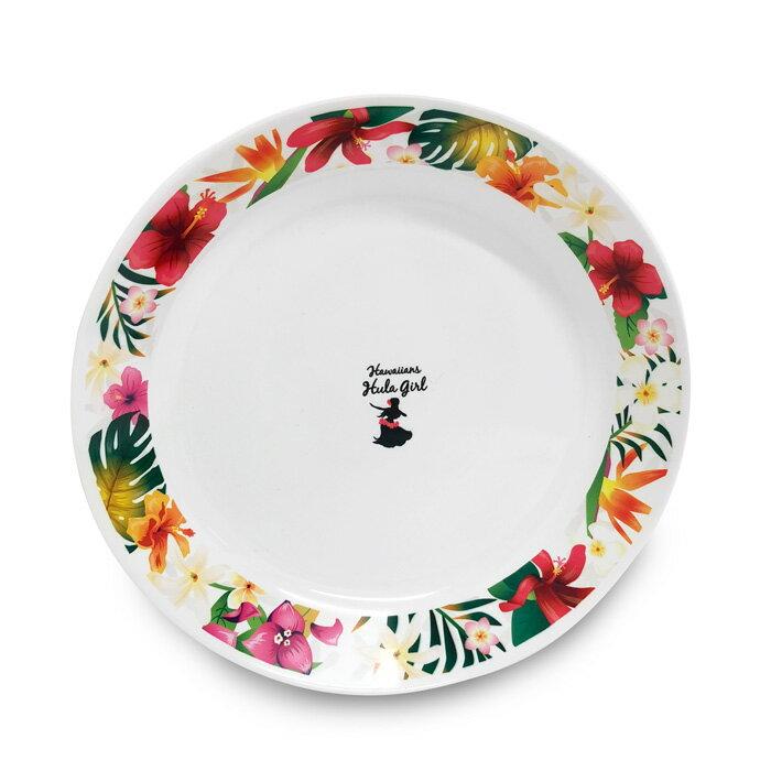 ハワイアンズ フラガール ボタニカル メラミン プレート (丸皿・直径22cm)