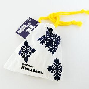 ハワイアンキルト 柄 巾着入り飴(パイン味)