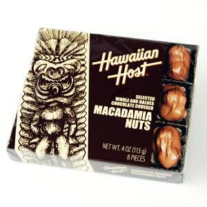【クール便】ハワイアンホースト マカデミアナッツチョコレート TIKI スクエア 4oz(8粒入)
