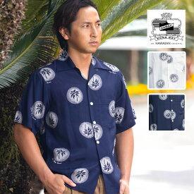 アロハ シャツ 【KONABAYHAWAII / Palm Tree】コナベイハワイ 半袖【送料無料】ホワイト ネイビー