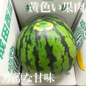 クリームスイカ 西瓜 幸せの黄色い果実 4Lサイズ 大きくてお得 千葉県産 長野県産等 成田 スイカ