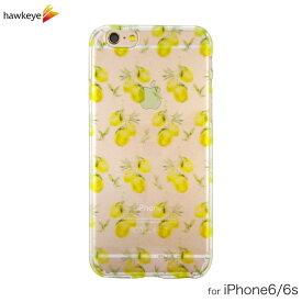 iPhone6/iPhone6s用 レモン柄 クリアソフトケース[iPhone/カバー/ボタニカル/檸檬/かわいい/フルーツ/爽やか/海/夏/透明/4.7インチ/TPU]