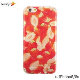 iPhone6/iPhone6s用 いちご柄 クリアソフトケース[iPhone/アイフォン/カバー/ケース/透明/かわいい/可愛い/ストロベリー/イチゴ/苺/フルーツ/果物/お洒落/4.7インチ/TPU]