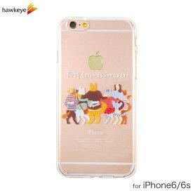 iPhone6/iPhone6s用 Best Friends forever クリアソフトケース [iPhone/猫/犬/キャット/ドック/オシャレ/ゆるかわ/ゆるい/癒し/動物/ペット/手書き/落書き/シンプル/かわいい/カバー/4.7インチ/TPU]