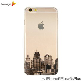 iPhone6 Plus/iPhone6s Plus用 ビル街 クリアソフトケース[iPhone/カバー/アイフォン/透明/オシャレ/スタイリッシュ/モノクロ/シンプル/町並み/街並み/オフィス/かっこいい/ヨーロッパ/アメリカ/マンハッタン/ビル/建物/家/モダン]