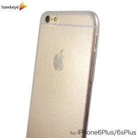 iPhone6 Plus/iPhone6s Plus用 小花柄 さり気ないクリア模様クリアソフトケース[カバー/花柄/花/フラワー/シンプル/ボタニカル/植物/5.5インチ/TPU]