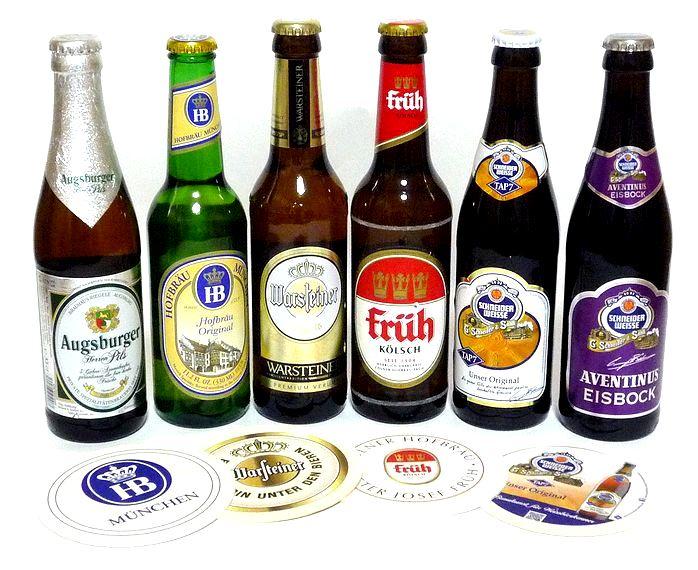 【送料無料】ドイツビール飲み比べ6種12本セットオリジナルコースター付 330ml
