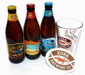 【Kona Beer】コナビール 定番3種9本 + グラス・コースターセット